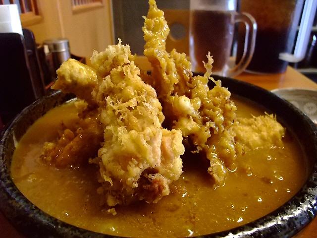 迫力満点の鶏天カレーうどん! 大阪木津卸売市場 「うどん 大和」