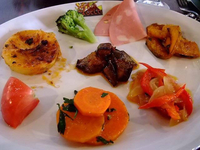 前菜が素晴らしいお得なランチセット 京町堀 「サンタルチア」