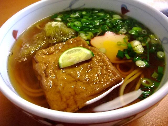 きつねもお蕎麦も旨かった! 大阪木津卸売市場 「大和」