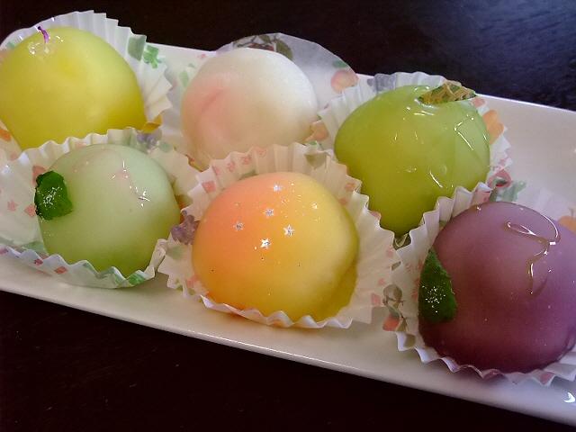 Mのおやつ 久しぶりのフルーツ餅はやっぱり絶品でした! 吹田市 「松竹堂」