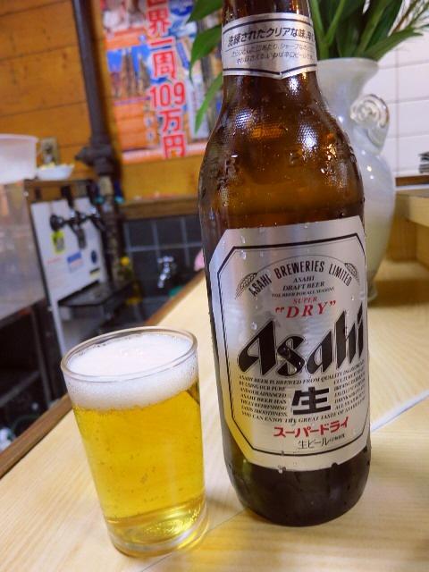 Mのちょっと一杯!  座って飲める居酒屋で大瓶350円!  天神橋5  「天満酒蔵」