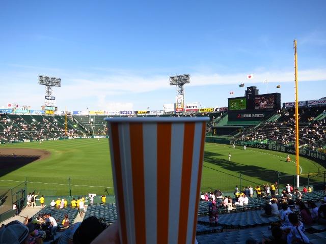 いっぱい飲んで一生懸命応援しましたが・・・ @阪神甲子園球場