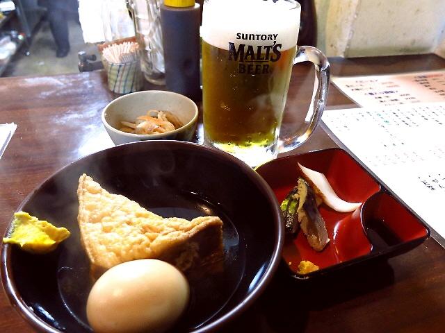 Mのちょっと一杯!  サラリーマンのパラダイスで驚愕のワンコインセット!   大阪駅前第2ビル  「お立ち呑み処 maido たよし」