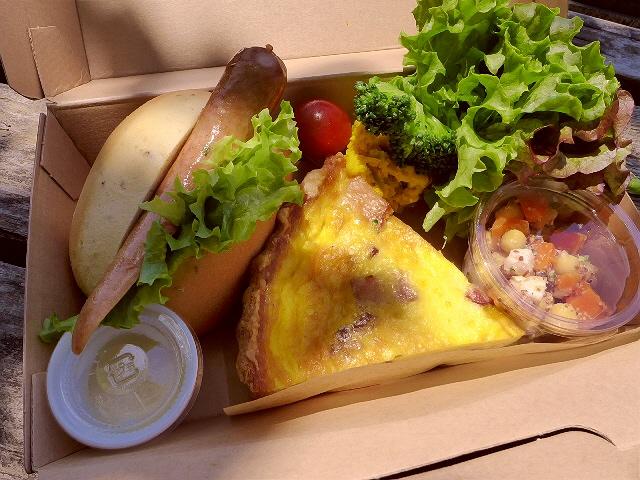 天気の良い日は外でテイクアウトのお弁当!  京都市左京区  「LINDENBAUM(リンデンバーム)」
