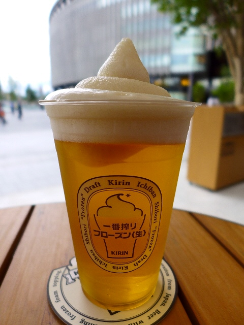 Mのちょっと一杯!  一番搾りフローズン生が始まりました!  グランフロント大阪うめきた広場  「一番搾り ガーデン大阪」