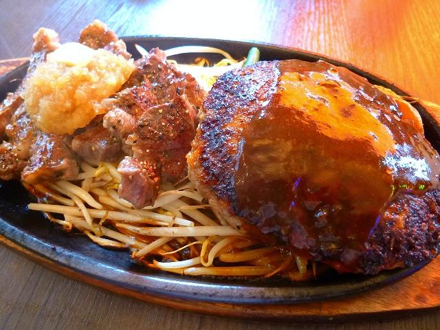 ボリューム満点!肉好きにはたまりません!凄まじい人気です!  淀川区西中島  「1ポンドのステーキハンバーグ タケル 西中島店」