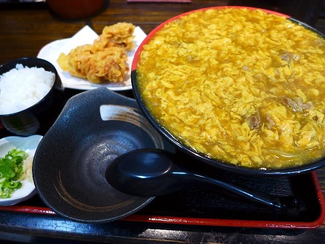 大人気の鶏卵カレーがリニューアルされてさらにお値打ちになりました!  寺田町  「極楽うどん Ah-麺 (アーメン)」