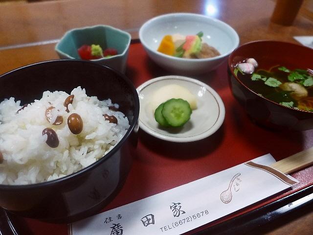 """老舗の名物 """"豆めし"""" は滋味溢れる味わいです! 住吉区 「住吉 廣田家」"""