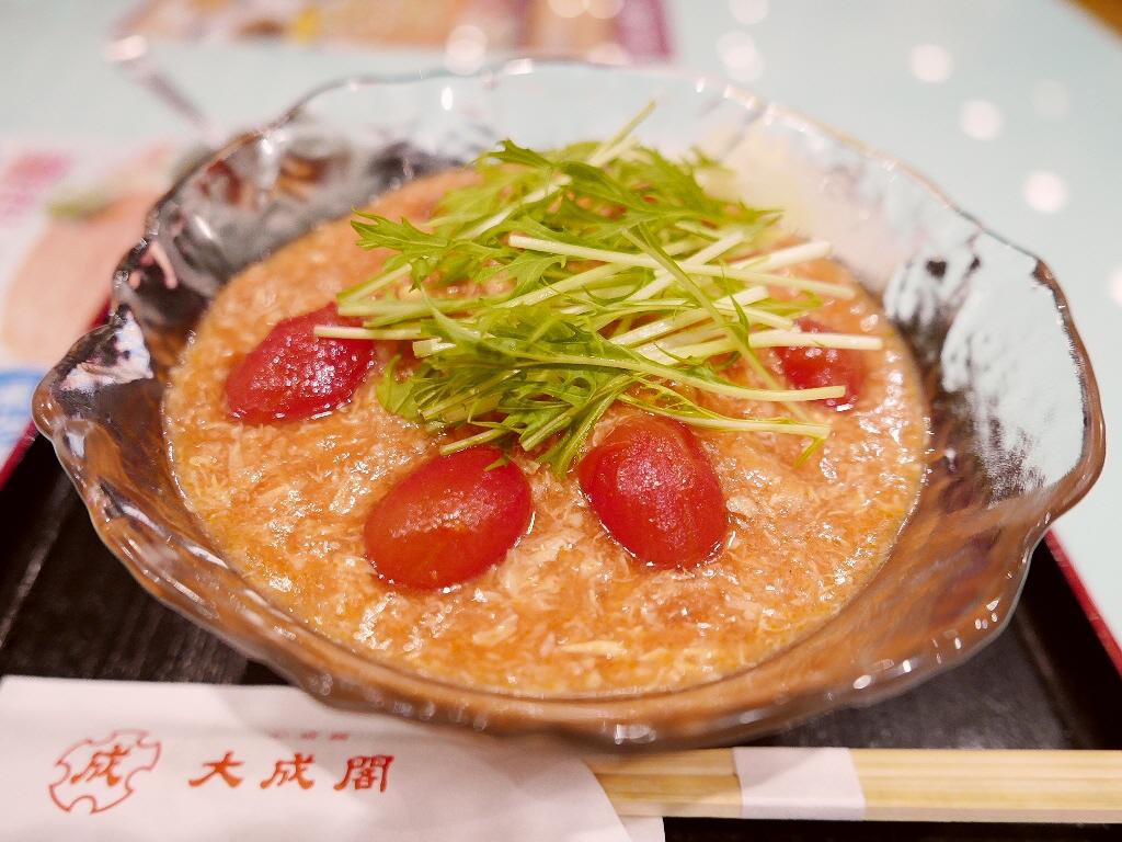 夏季限定!大好評の特別企画のトマトキムチ冷麺が始まりました! 心斎橋 「大成閣」