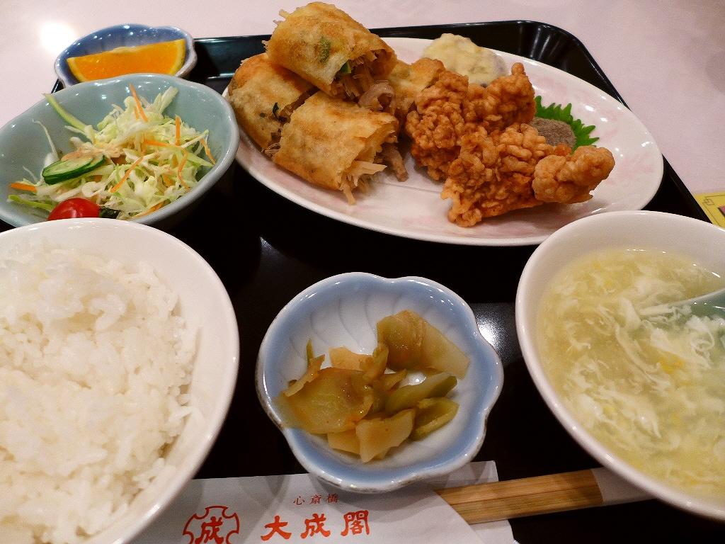 大人気の春巻き定食は美味しくて安くてボリューム満点でお値打ちです! 心斎橋 「大成閣」