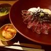 柔らか和牛肉の篠山名物牛とろろ丼がいただけるお店がオープンしました! 北新地 「心呑」