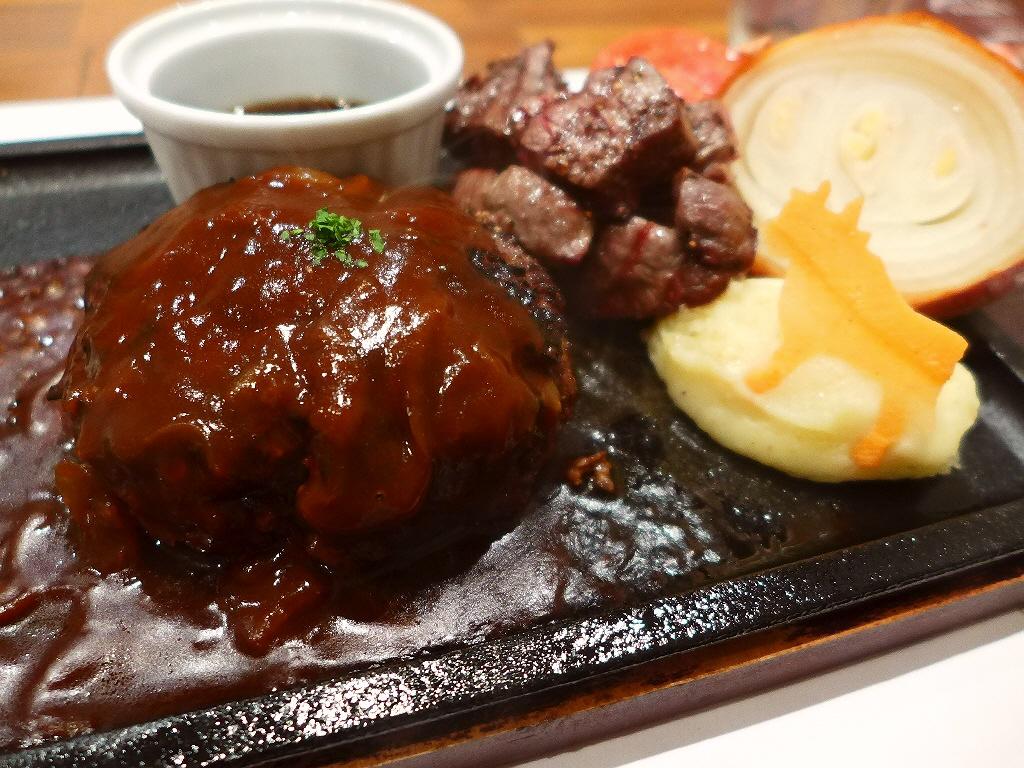 お肉の旨味がぎゅ~っと凝縮した熟成肉のハンバーグが絶品です! 京都市中京区 「ハンバーグ&ステーキ 听 四条室町店」