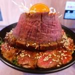 凄まじいボリュームのレアハラミステーキ丼ギガ盛り! 日本橋 「肉丼専門 富士晃 別亭」