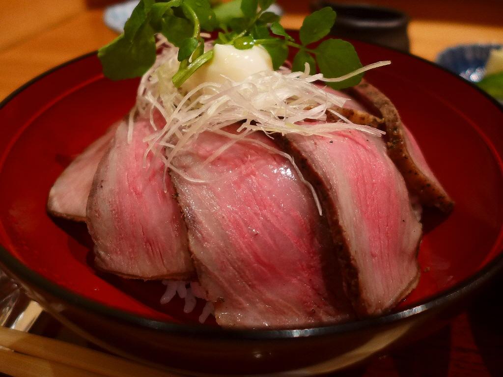 高級割烹の超高級ローストビーフ丼の美味しさとお値打ちの内容に心から感動させていただきました! 北新地 「日本料理 湯木 永楽町」