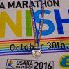 第6回大阪マラソン!秋晴れの最高の天気のもと、愛すべき大阪の方々の大声援を浴びながら気持ちよく走らせていただきました!