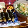 大阪で長く愛される老舗の名物天むすとお出汁の効いたうどんはしみじみ旨い! 本町 「味万」