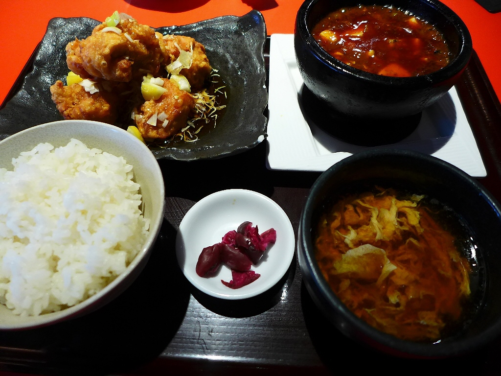 すべての定食に本格麻婆豆腐がついた素晴らしくお得な中華ランチ! 難波 「天天酒家」