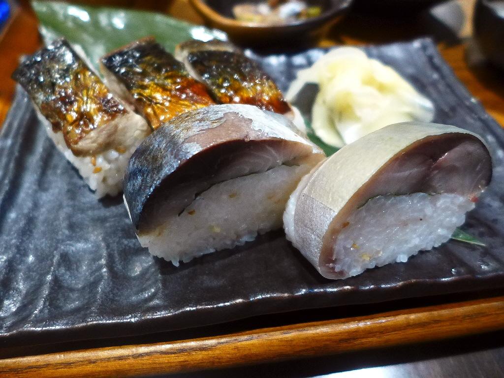 肉厚のとろ鯖を使った三種類の鯖寿司が楽しめるお値打ち定食! 梅田 「SABAR 阪急三番街店」