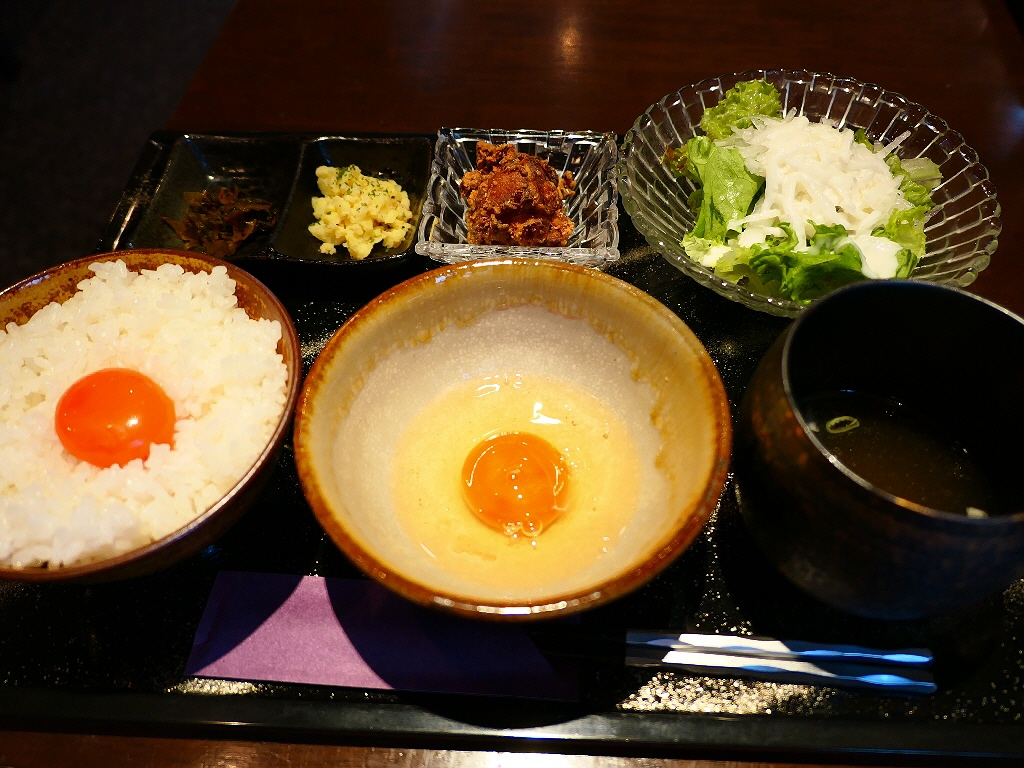 卵付き卵かけご飯?!高級卵蘭王が2個も食べられる贅沢卵かけご飯定食! 東三国 「鶏料理 高麗園」
