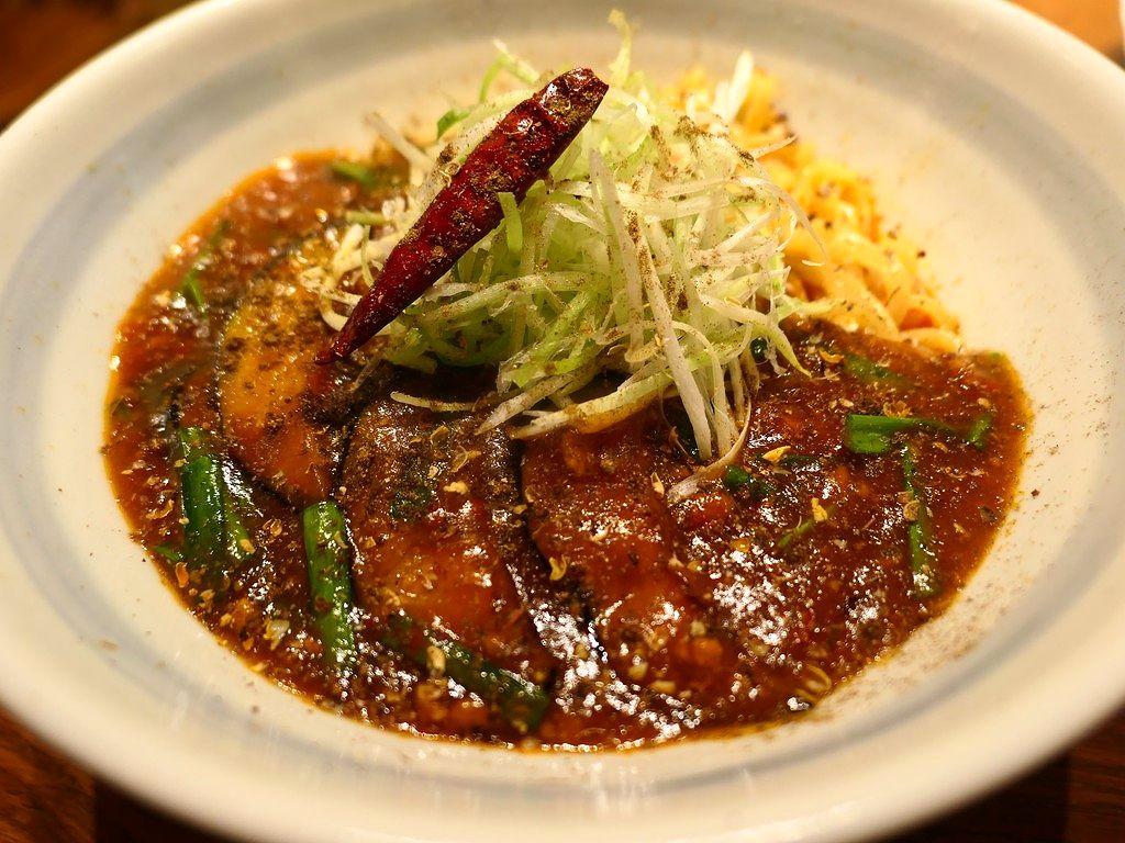 新登場の麻婆茄子和え麺は本格的な味わいで辛くて体が温まります! 梅田 「らーめん かんじん堂 熊五郎」