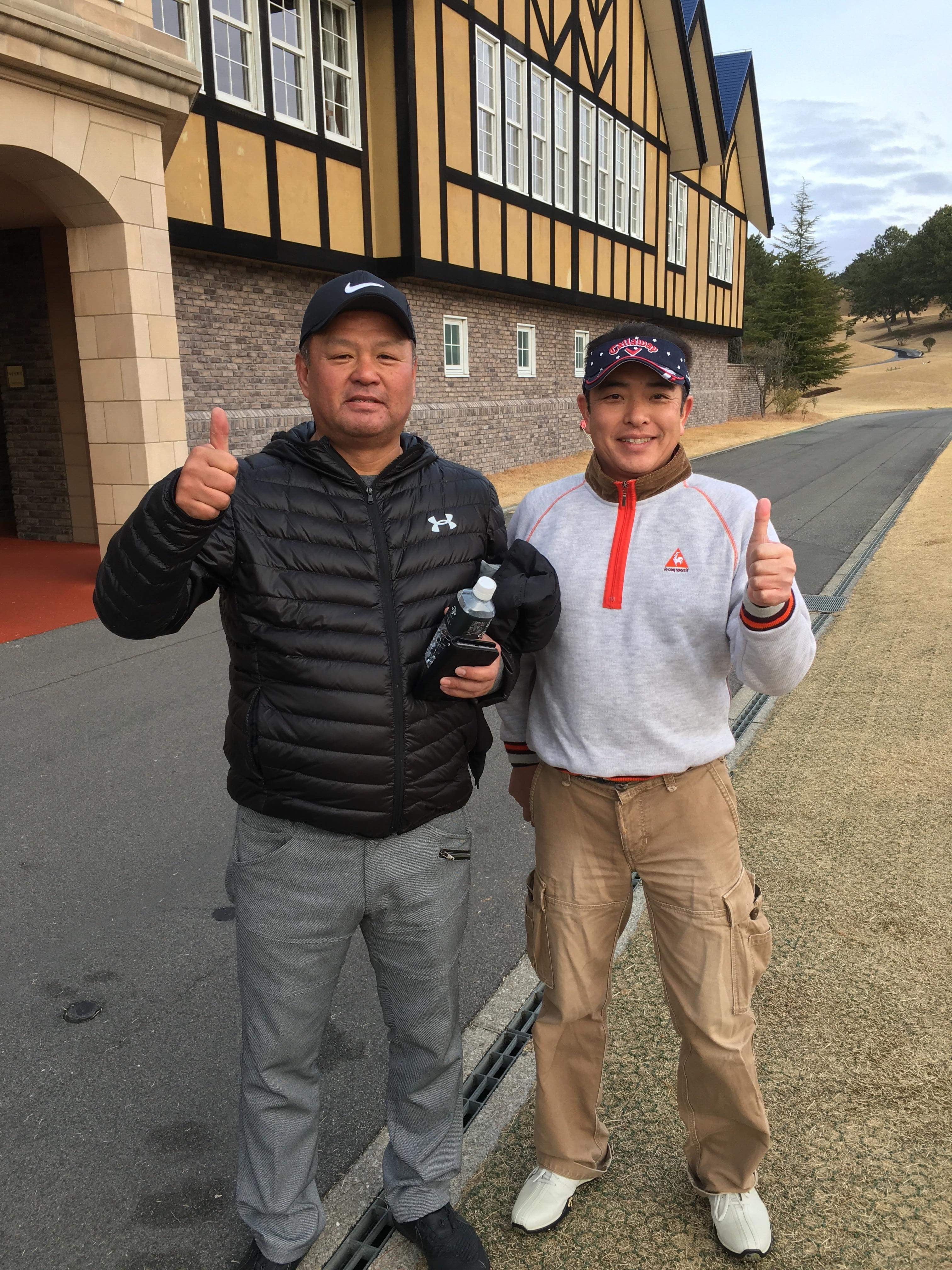 真冬のプレーでも、元プロ野球選手と最初から最後まで笑いまくりながらのゴルフは熱くて楽しすぎました! 兵庫県 「太平洋クラブ 六甲コース」