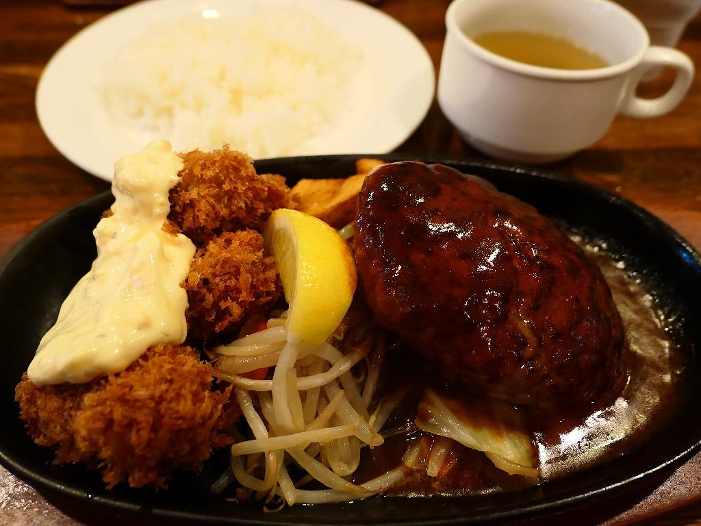 肉汁たっぷりで高級なお肉の旨みと甘みが凝縮した超人気のハンバーグ! 大阪駅前第3ビル  「ぶどう亭」