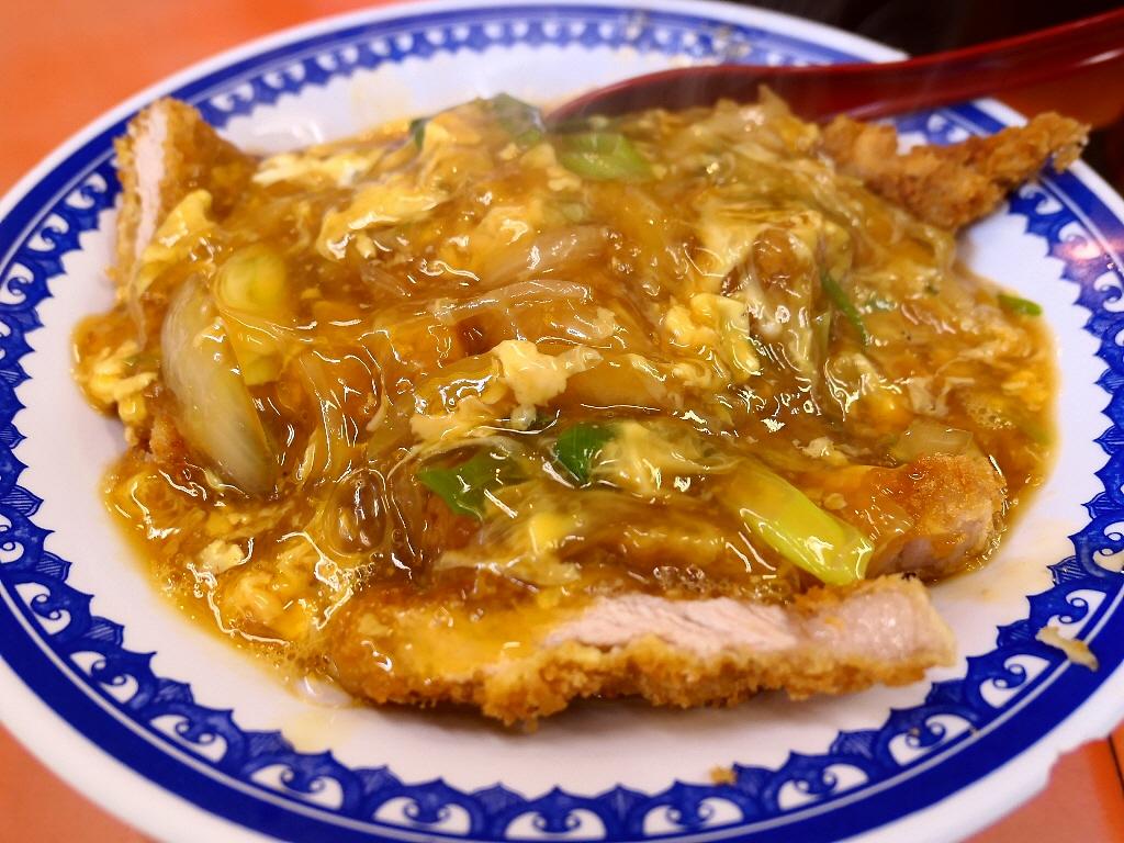 地元で人気の町中華の中華風かつ丼は病み付きになる味わいです! 住之江区 「春来」