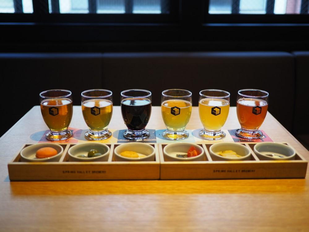 Mのちょっと一杯! 醸造所を併設した築100年の町家でクラフトビールの飲み比べとおつまみのペアリングが楽しめます! 京都市中京区 「スプリングバレーブルワリー 京都」