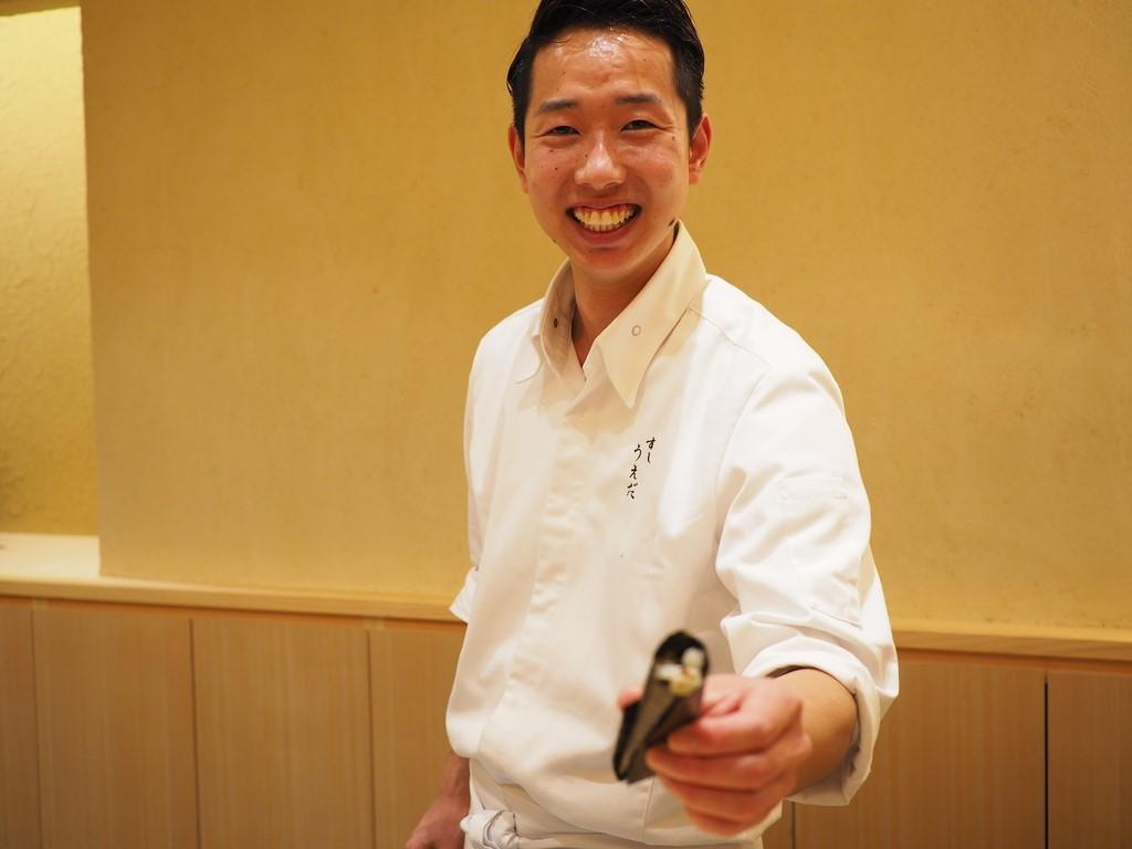 淡路島の食材を堪能させていただける才能とセンス溢れる弱冠25歳の新鋭寿司職人さんのお店 神戸市中央区 「すし うえだ」