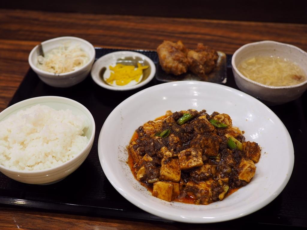 本格的な味わいの四川麻婆豆腐のランチセットは美味しくてボリューム満点でお値打ちです! 江坂 「華や 江坂店」