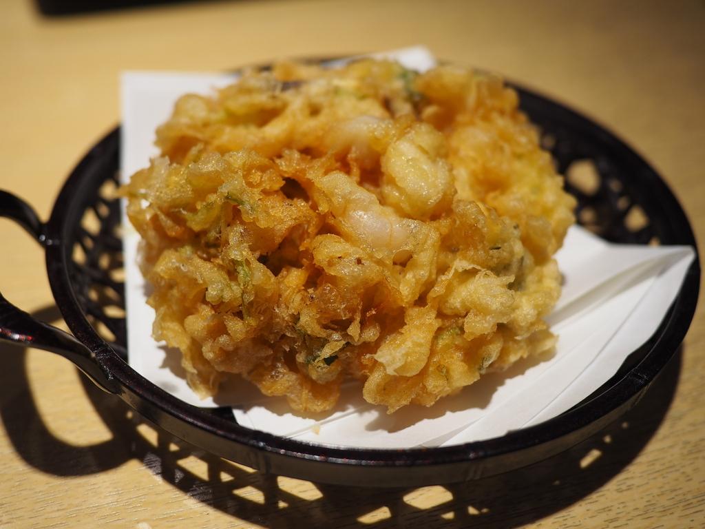東京の天ぷらの名店の名物かき揚げは思わず唸るほどのさすがの美味しさでした! 京都市下京区 「銀座ハゲ天 京都ポルタ店」