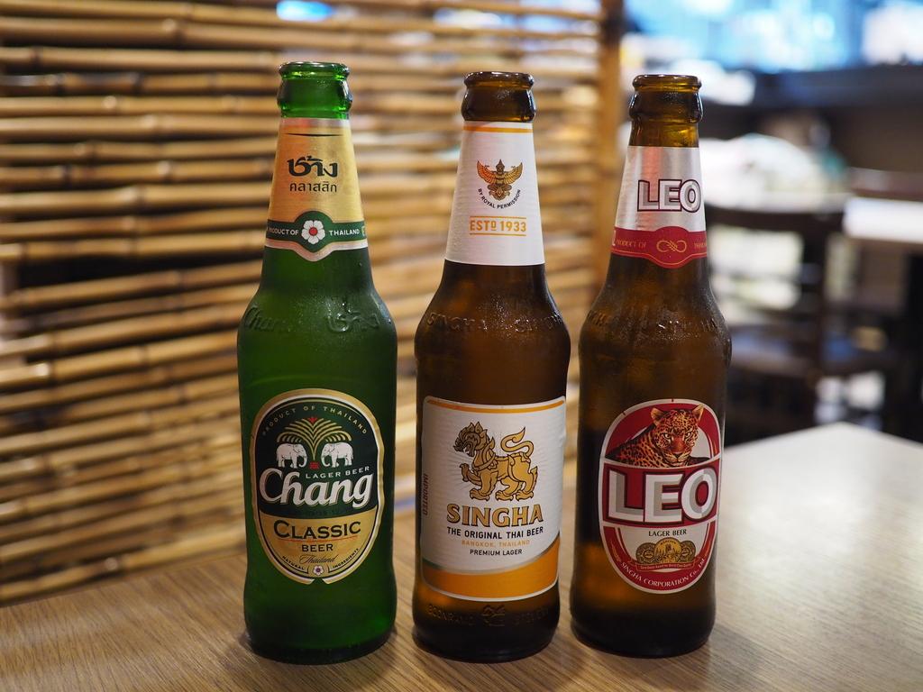 タイのビール3種飲み比べのフェアはとてもお得でビール好きにはたまりません! 梅田 「クンテープ ルクア大阪店」