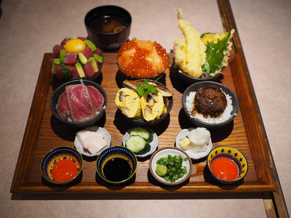 色んな丼やチラシがちょこちょこたくさん食べられる贅沢で楽しい御膳が発売になりました! 玉造 「活旬 大枡」