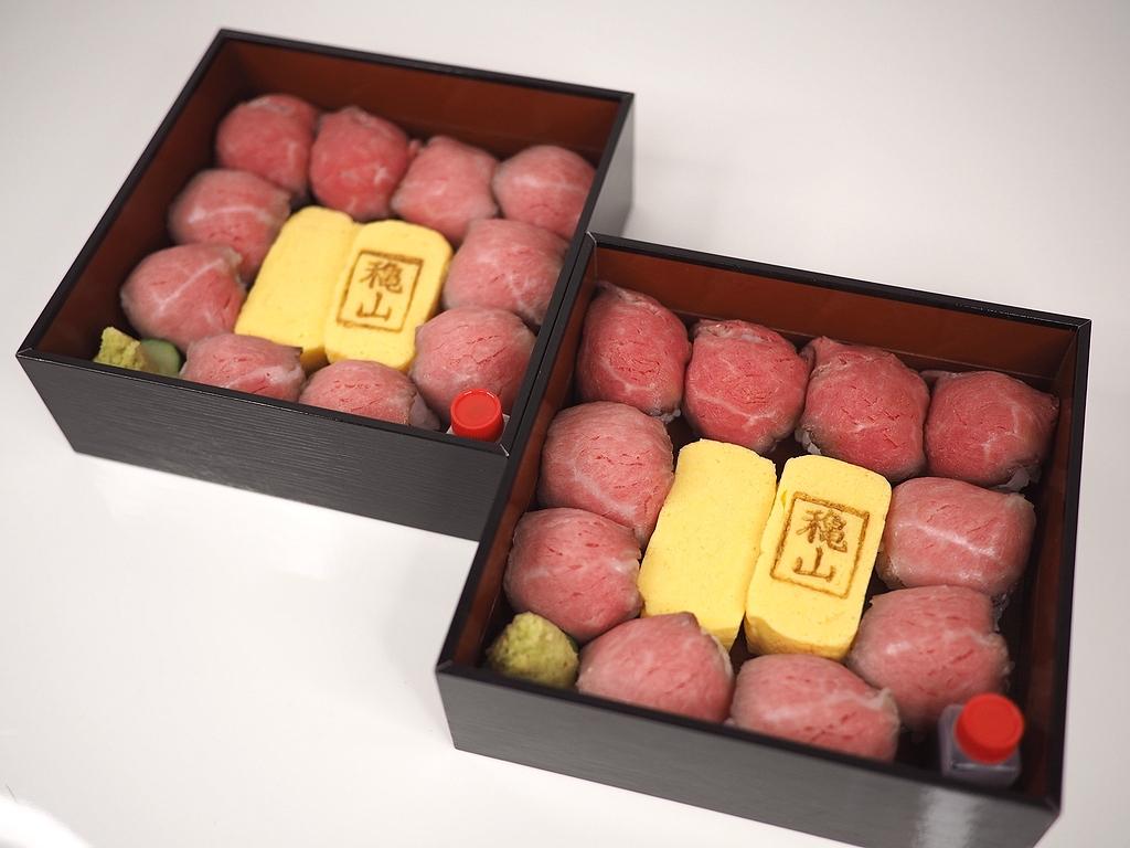 高級肉割烹の黒毛和牛のローストビーフ手毬寿司は美味しくてリーズナブルでめちゃくちゃお得です! 北新地 「北新地 和牛割烹 穐山 北新地本店」