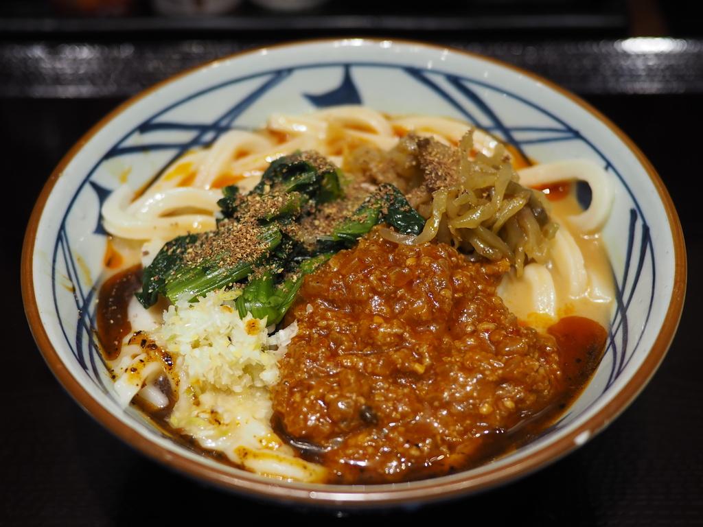 夏季限定のシビ辛麻辣担々うどんが感動的に美味しかったです! 梅田 「丸亀製麺梅田」