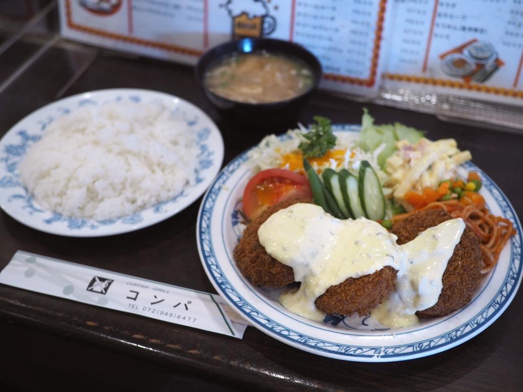 地元で絶大に支持されている喫茶店の洋食系ランチは凄いボリュームで美味しくて安くて最高です! 八尾市 「喫茶コンパ」